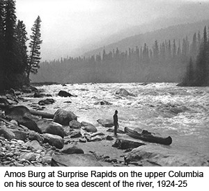 Amos Burg at Surprise Rapids, Upper Columbia River
