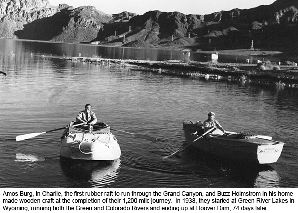 Amos Burg and Buzz Holmstrom at the End of the 1938 run of the Green and Colorado Rivers