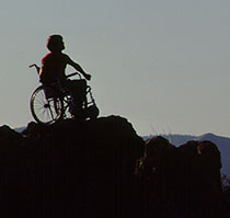 Wheelchair on the Summit