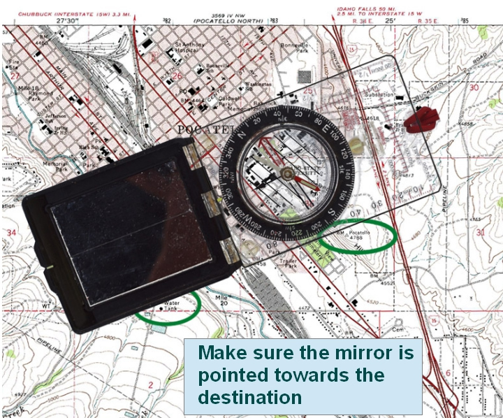 Techniques Of Using A Compass - Make points on a map