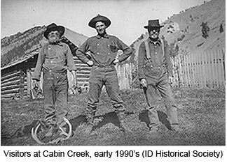 Visitors At Cabin Creek, Early 1900u0027s