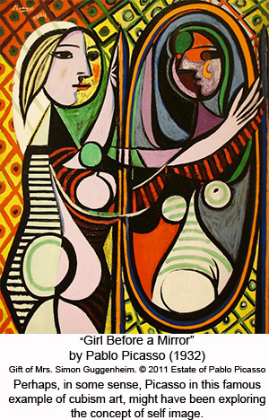 Exploring Self Concept? Picasso Girl Before Mirror