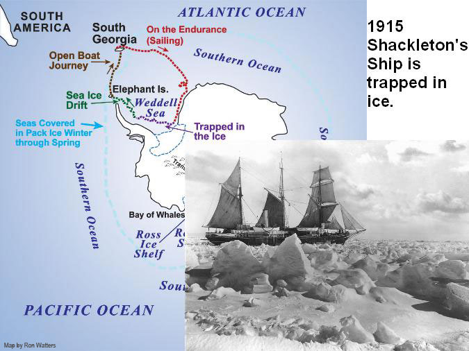 Shackleton's Ship is Trapped - Map