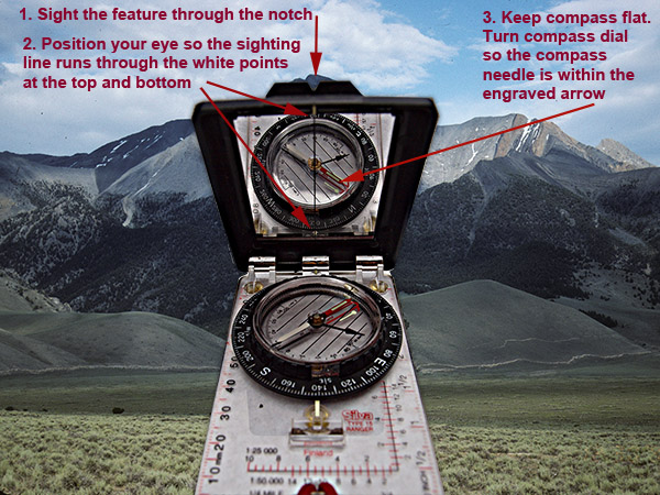 Sighting a Compass With a Mirror