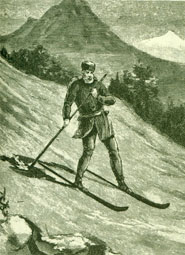 1887 Etching of Skier