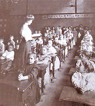 Teaching a Class in the 1800s