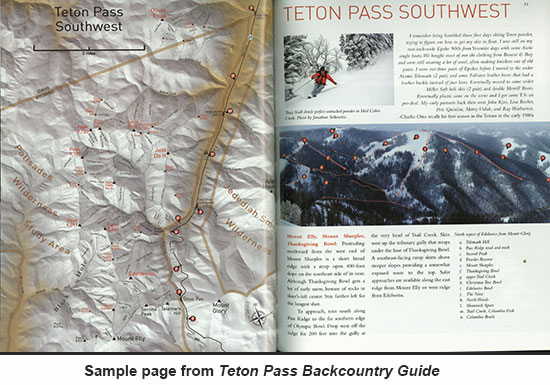 Sample page: Teton Pass Backcountry Guide