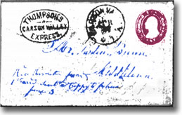 Envelope Carried by Thompson