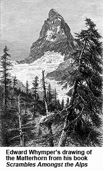 Edward Whymper's drawing of the Matterhorn