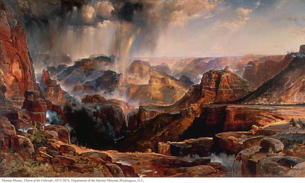 Thomas Moran's Chasm of the Colorado